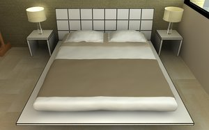 bed night tables 3d model