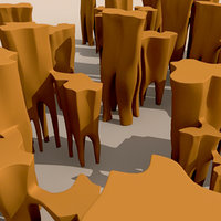 3d cartoon canyons model