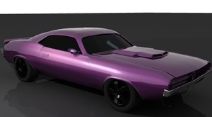 3ds max 1970 dodge car