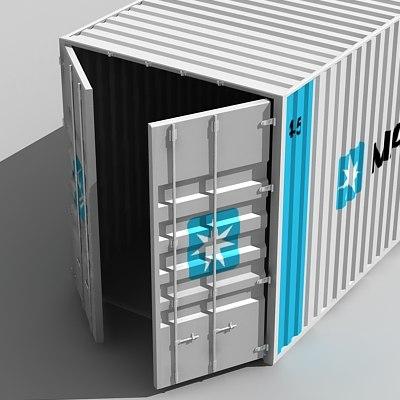 cargo container 3d 3ds