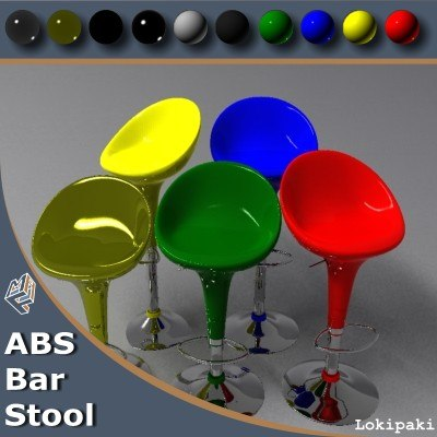 3ds max abs bar stool plastic chair