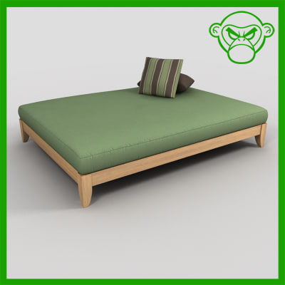 3d day bed model