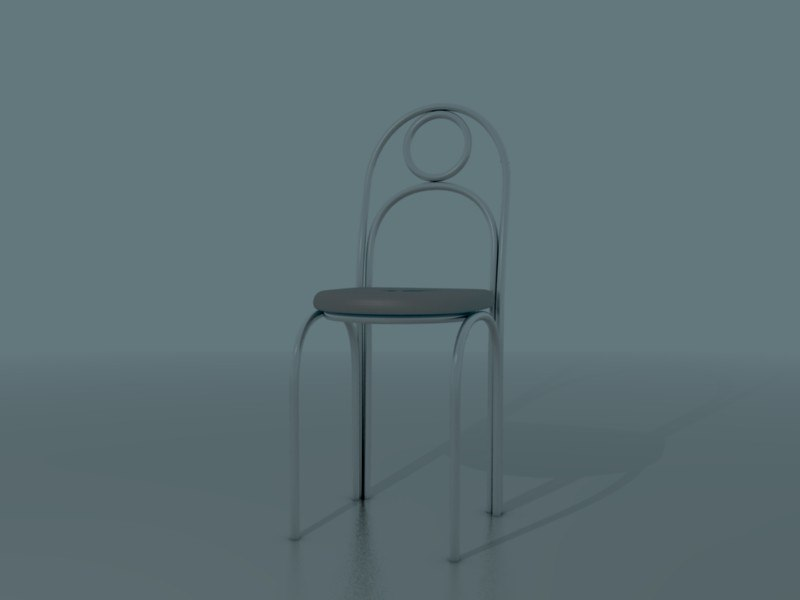3d basic diner chair furniture