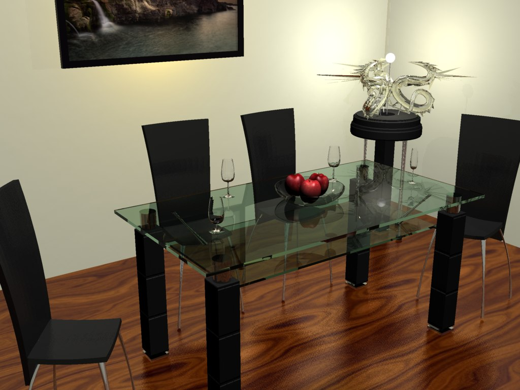 3d 3ds dining set
