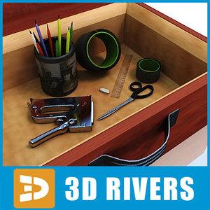 drawing set studio artist 3d model