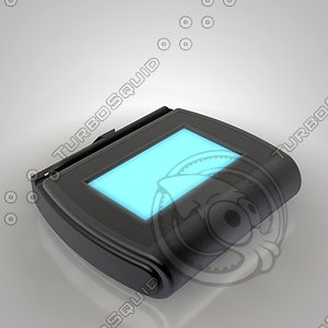 electronic signing pad 3d model