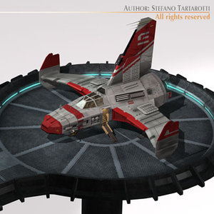 spaceship landing dock 3d 3ds