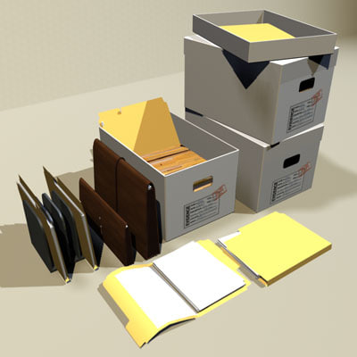 files folders box 01 3d dxf