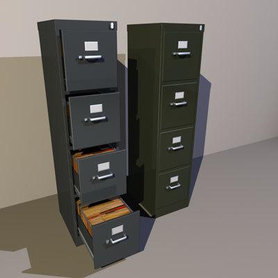 file cabinets 02 3d model