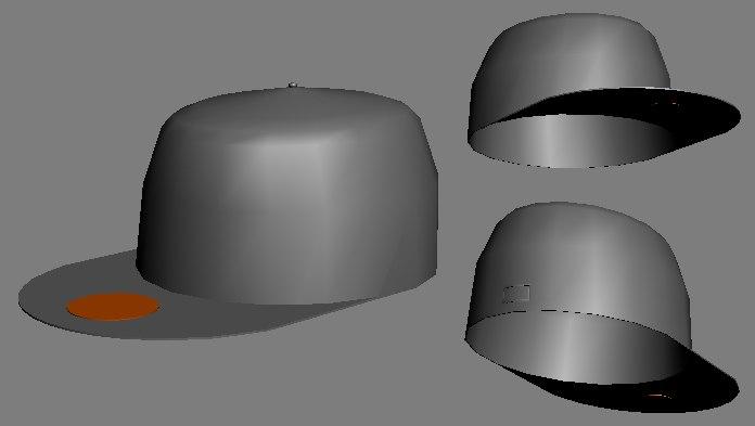 maya flat peak cap