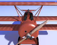 3d model fokker red baron dr