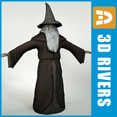 gandalf grey rings 3d model