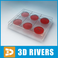 3d medical glass sampler