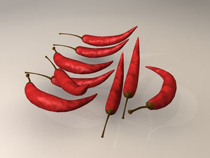 red chili 3d model