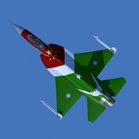 JF-17  thunder Display Aircraft Low poly