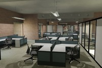 Office space with furniture