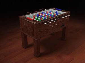 football table 3d 3ds