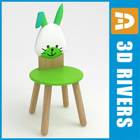 3d 3ds kid chair furniture