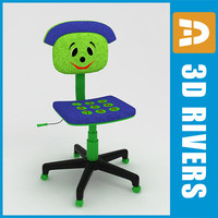 3d 3ds kid computer chair