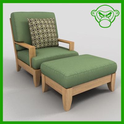 lounge chair ottoman max