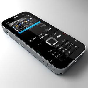 3d model nokia n78 mobile phone