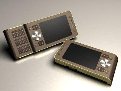 w910i cellphone 3d model