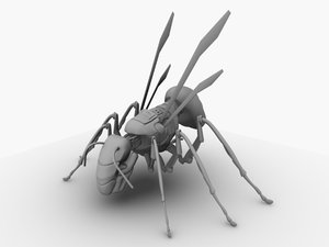 3d robotic hornet model