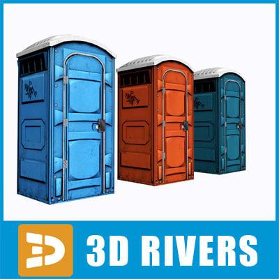 public toilet 3d model