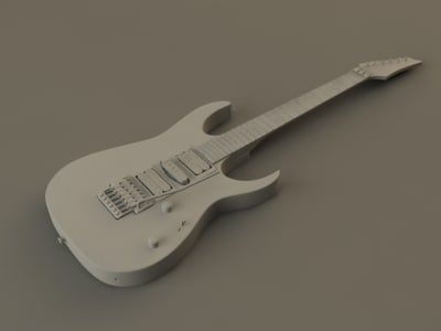 3d ibanez guitar model