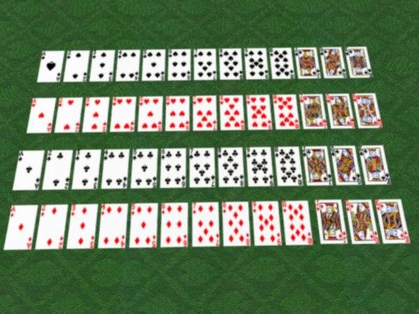 3d cards deck model