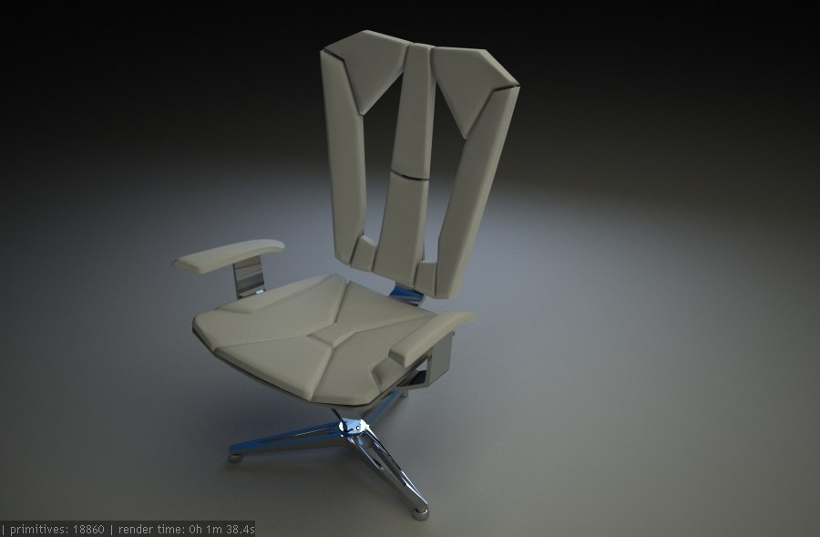 futuristic chair 3ds free