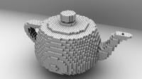 3d model lego teapot