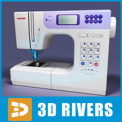 3d model electric sewing machine