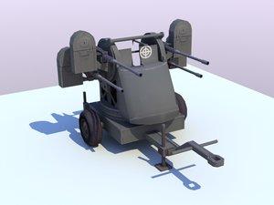 browning m55 quad mount 3d max