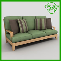 patio sofa set 3d 3ds