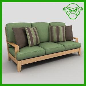patio sofa set 3d 3ds