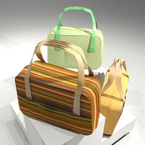 3dsmax handbag cloth