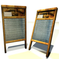 washing board 01 washboard 3d model
