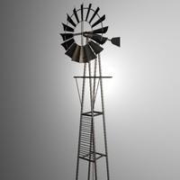 3d windmill farm model