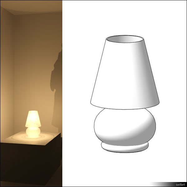 free table lamp 3d model