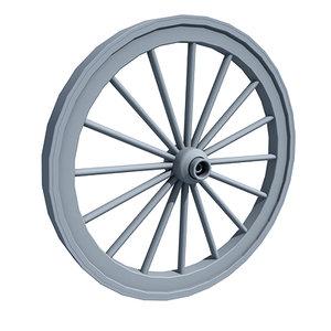 carriage wheel 3d lwo