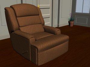 3d barcalounger chair