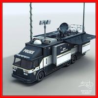 fbi command truck 3d model