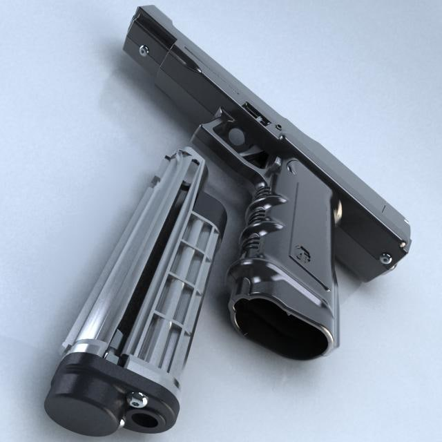 tactical air gun 3d model