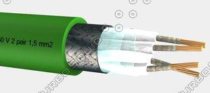 bxoi shipline instrumentation - 3d model