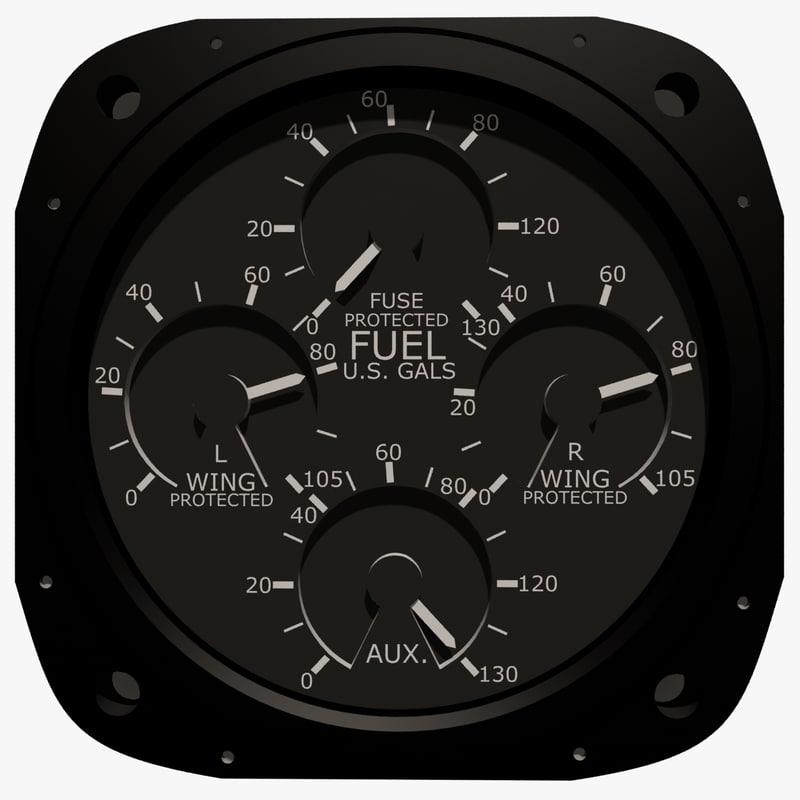 max fuel gauge aircraft instrument