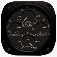 Fuel Gauge Aircraft Instrument