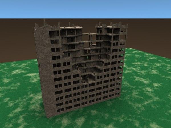 ruins derelict 3d model