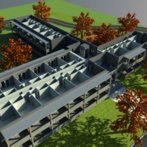 3d model accomodation university v