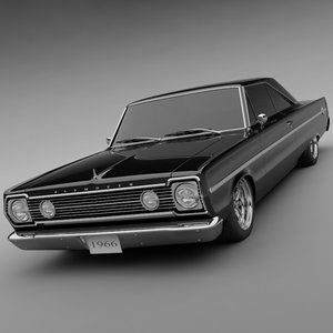 1966 plymouth belvedere ii 3d model